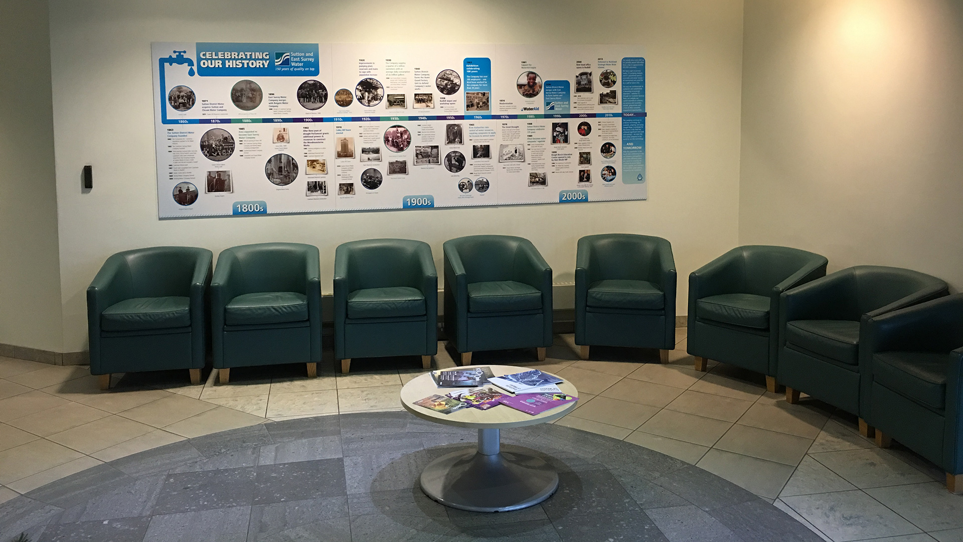 Reception refurbishment, Redhill, Surrey