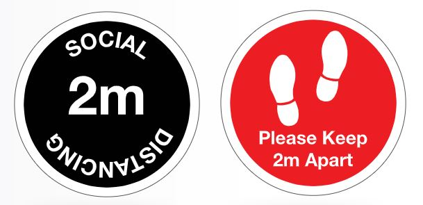 2 metre apart stickers for office social distancing