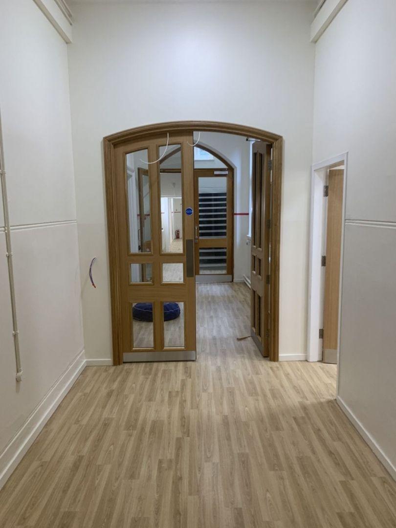 Corridor and doors Charterhouse School