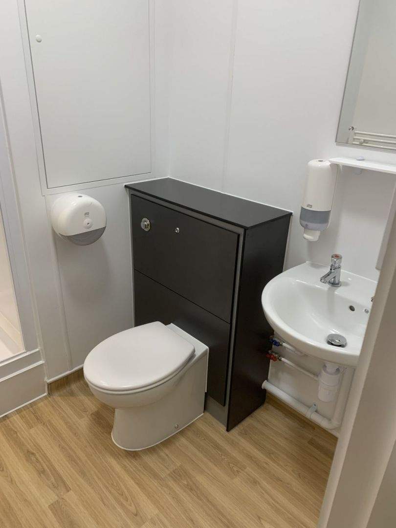 New toilet and sink