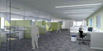 3D CAD new office design visualisations