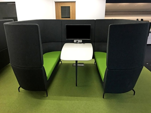 modern office furniture consultancy - huddle booth