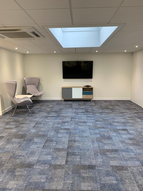 newly carpeted floor as part of a small office refurbishment