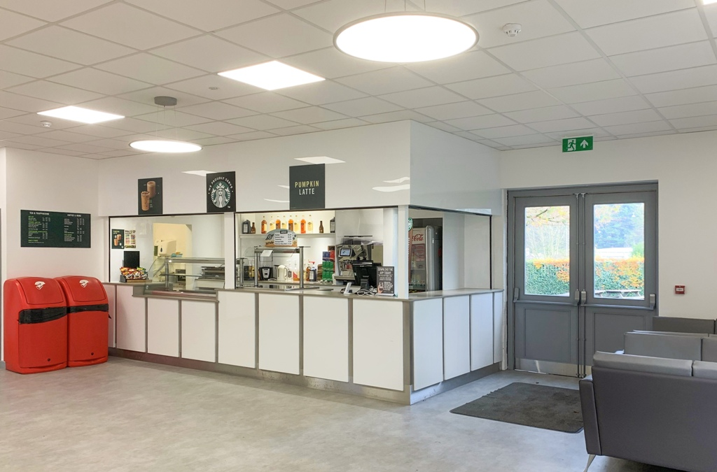 Newly refurbished starbucks cafe in nescot college