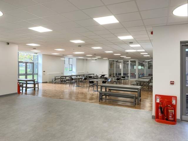 Refurbished canteen in nescot college