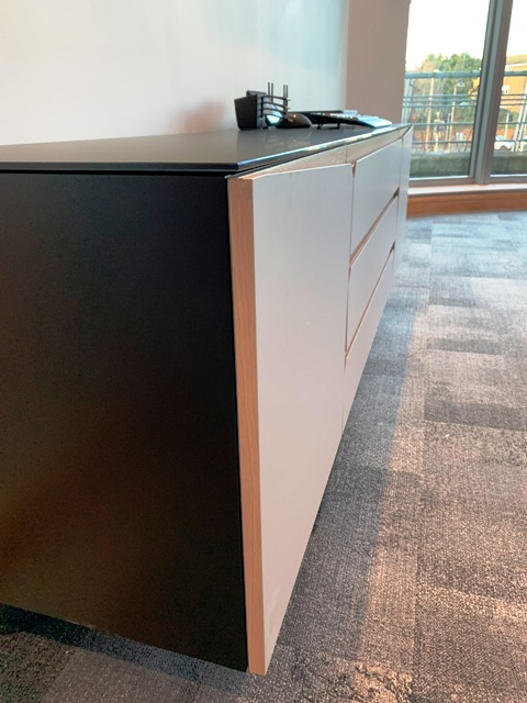 Storage cabinet in an office meeting room