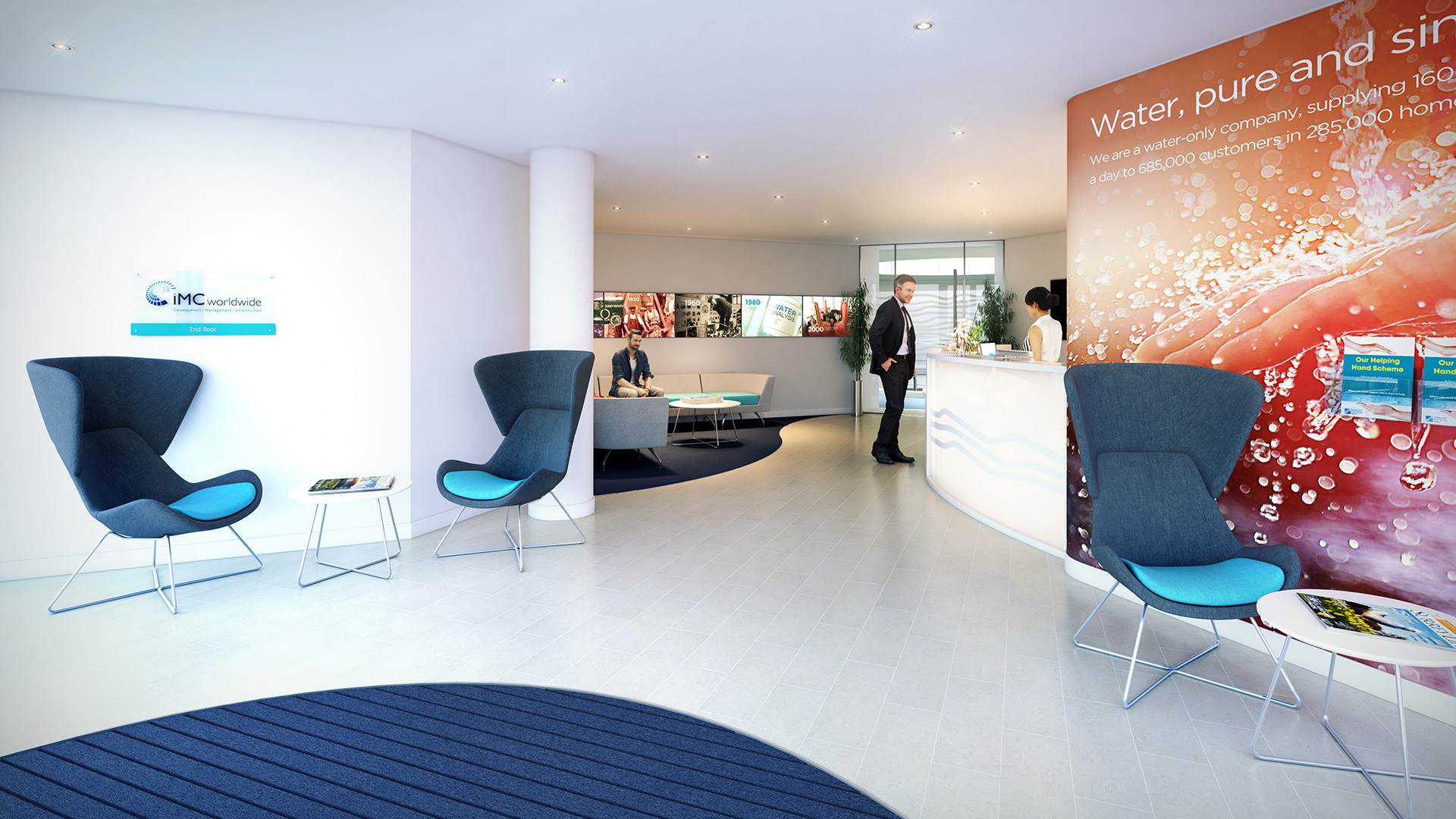 Reception refurbishment, Redhill, Surrey