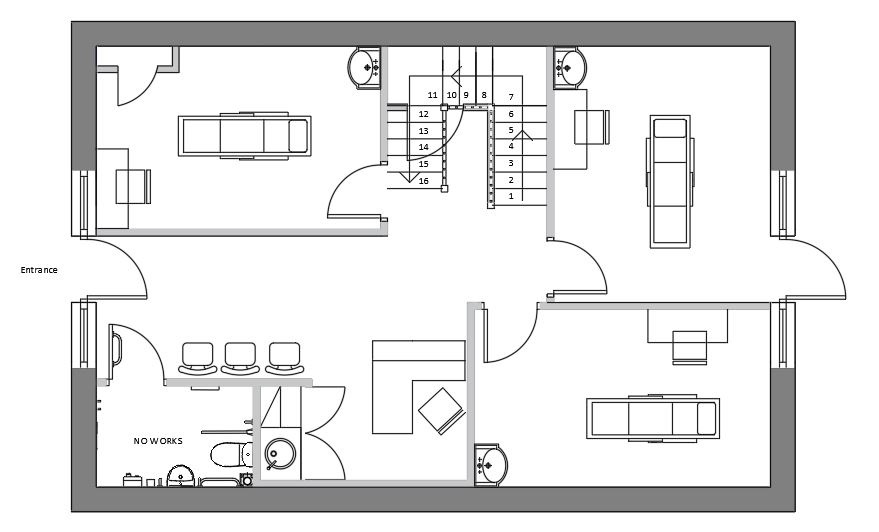 Space Plan for New Chiropractic Clinic Premises